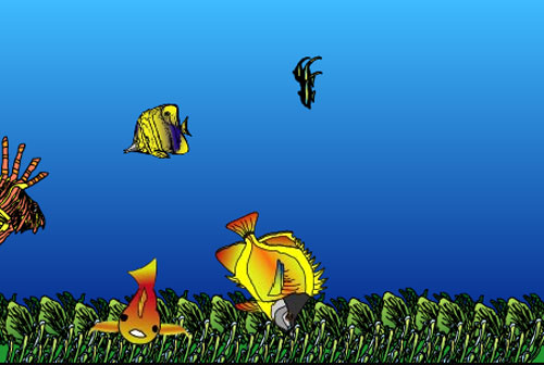 "Link to: Animation web site, ""Fish Tank"""